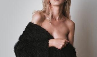 Photo of model in a fur coat.